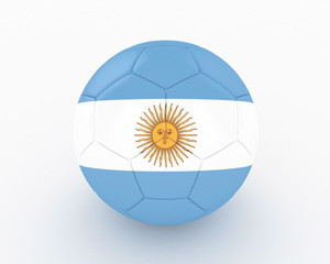 3d Argentina Fifa World Cup Ball - isolated
