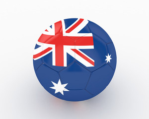 3d Australia Fifa World Cup Ball - isolated