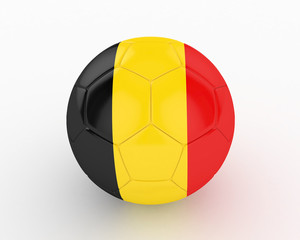 3d Belgium Fifa World Cup Ball - isolated
