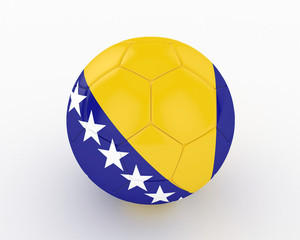 3d Bosnia Fifa World Cup Ball - isolated