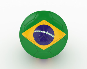 3d Brazil Fifa World Cup Ball - isolated
