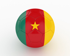 3d Cameroon Fifa World Cup Ball - isolated