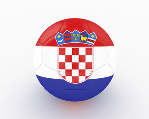 3d Croatia Fifa World Cup Ball - isolated