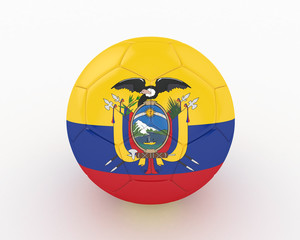 3d Ecuador Fifa World Cup Ball - isolated
