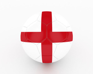 3d England Fifa World Cup Ball - isolated