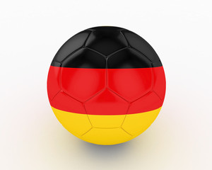 3d Germany Fifa World Cup Ball - isolated