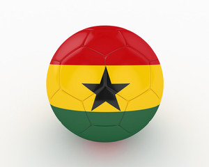 3d Ghana Fifa World Cup Ball - isolated