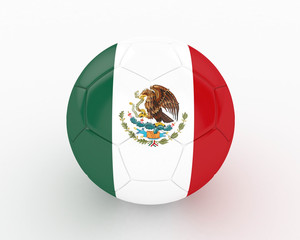 3d Mexico Fifa World Cup Ball - isolated