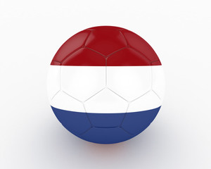 3d Netherlands Fifa World Cup Ball - isolated