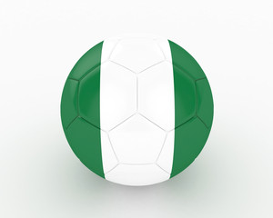 3d Nigeria Fifa World Cup Ball - isolated