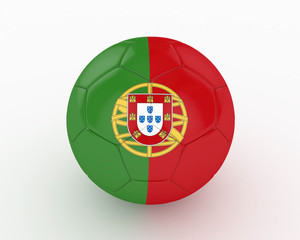 3d Portugual Fifa World Cup Ball - isolated