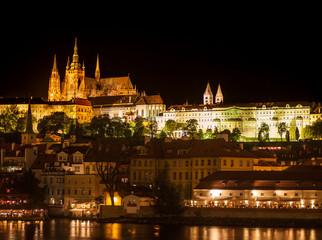 landscape evening Prague