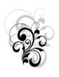 Stylish swirling calligraphic design element