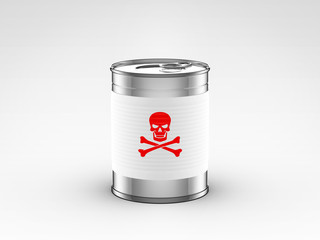food can with poison label