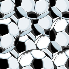 Background pattern of overlapping soccer balls