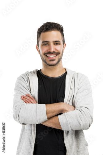 Smiling guy posing
