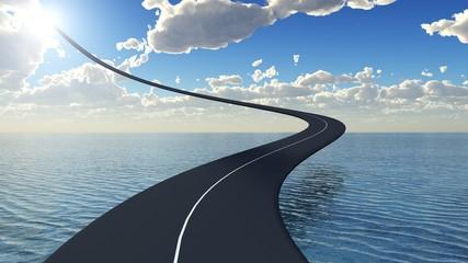 route courbe au paradis