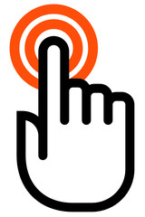 Touch finger outline icon