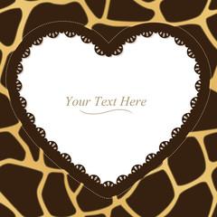 Giraffe Spotted Heart Frame