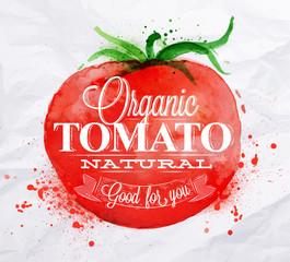Tomato watercolor poster