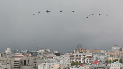 Moscow. Rehearsal of parade of the Victory Day