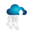 cloud computing circuit connection illustration