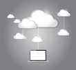 cloud computing laptop connection illustration