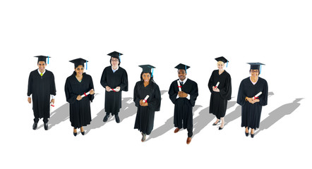Multi-Ethnic Group of Graduated Student