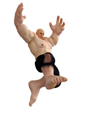 monster man jumping