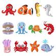 Marine animal icons - 65216298