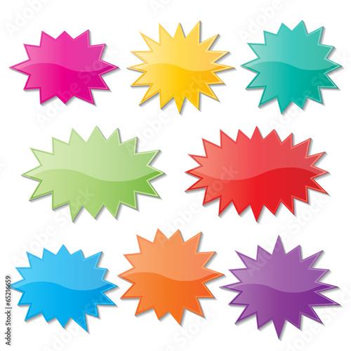 starburst speech bubbles - 65216659