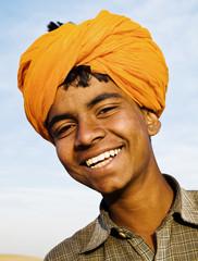 Indigenous Indian Boy Smiling At The Camera