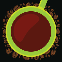 Green cup coffee summer time