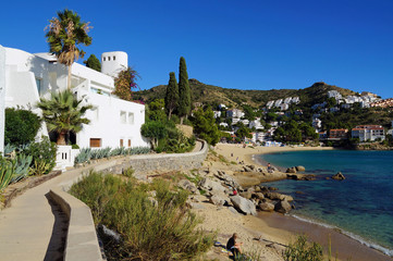 Footpath on the Mediterranean sea coast