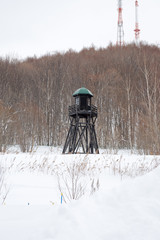 Prison Watch Tower in the Winter