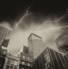 New York City. Storm above Manhattan skyline