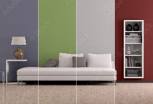 canvas print picture Farben im Wohnraum