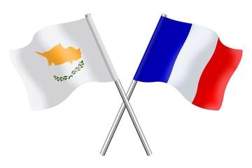 Drapeaux : Duo Chypre, France