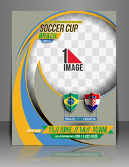 Football Competition Flyer Cover & Poster Template