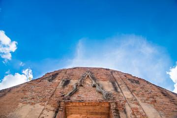 Brick wall with sky