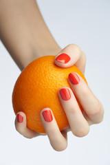 Orange manicure
