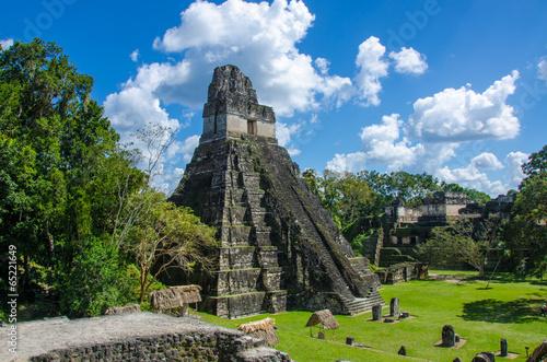 obraz PCV Tikal w Gwatemali Maya Ruinen