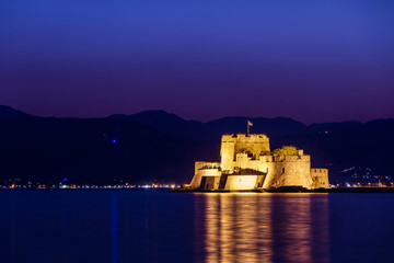 Bourtzi castle in Nafplion, Greece