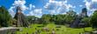 Leinwandbild Motiv Panorama Tikal Ruins in Guatemala