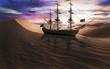 Постер, плакат: Корабль в пустыне