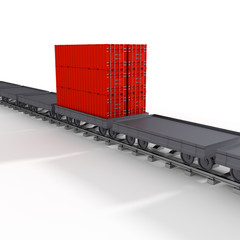 3d freight train.
