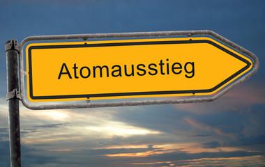 Strassenschild 19 - Atomausstieg