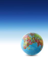 world globe blue fade