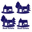 Vector abstract house icons: real estate set of logos