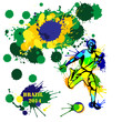 Vector background in style of soccer football Brazil World Cup